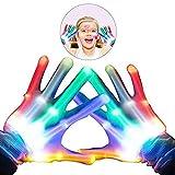 WISHBB Guantes con iluminación de Colores,Guantes Intermitentes Juguetes para Disfraces Led para niños de 3-12 años Niñas Juguetes para niños Regalos para niñas de 3-12 años