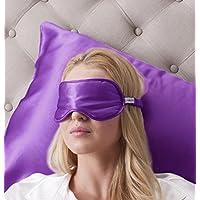 100% Seta Mascherina per dormire 100% Silk Sleep Eye Mask, colore: lavanda