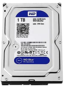 "WD WD10EZRZ Blu Hard Disk Desktop da 1 TB, 5400 RPM, SATA 6 GB/s, 64 MB Cache, 3.5 """
