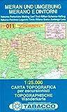 Meran und Umgebung: Wanderkarte Tabacco 011. 1:25000 (Cartes Topograh, Band 11) - TABACCO