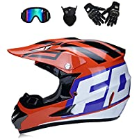 GWJ Adulto Fuera de Carretera Casco Motocross ATV Dirt Bike Moto Casco Am Mountain Bike Crossbike