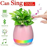 Global Craft Music Flowerpot,Smart Plant Pots,Touch Music Plant Lamp With Rechargeable Wireless Bluetooth Speaker And LED Night Light Model 104417