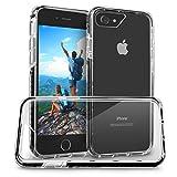 Orzly® FUSION Bumper Case per Apple iPhone 7 SmartPhone (2016 Modello) - Custodia con parte Posteriore Transparente e Rim Gomma in NERO