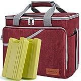 CANWAY Thermotasche Kühltasche Thermo Tasche Faltbare Isoliertasche Kühlkorb Kühlbox (Rot)