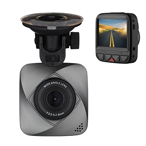 isYoung Petite Caméra embarquée de Voiture HD de 720 Pixels, DashCam DVR avec enregistreur de vidéo en Boucle Capteur-G, Détection de Mouvement (Carte Micro SD...