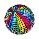 Morella Unisex Click-Button Druckknopf Discokugel bunt