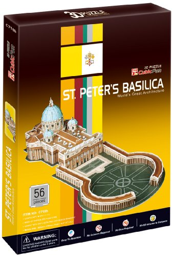 3D Puzzle - Sankt-Patersbasilika in Rom (Schwierigkeit : 4/8) - Vatikan-modell