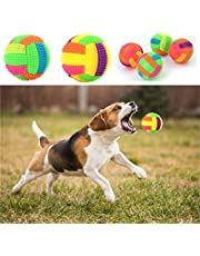 Pets Empire 1pc Pet Dog Interactive Squeak Toys Puppy Chew Play Elastic Ball with LED Light (Multicolour)