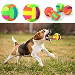 Pets Empire 1pc Pet Dog Interactive Squeak Toys Puppy Chew Play Elastic Ball wit LED Light