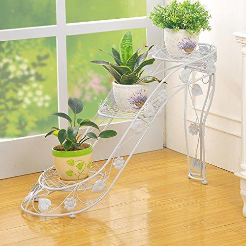 WSSF- Supports de pots Support de fleur de fer multicouche plantes vertes accrocher orchidées fleur Pot étagère intérieure et extérieure salon balcon chaussures à talons hauts créatif fleur présentoir, 66 * 25 * 54cm ( Couleur : #3 )