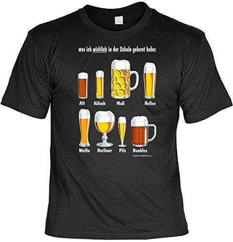 T-Shirt - Was ich in der Schule gelernt habe: Biersorten - lustiges Karneval Shirt ideal als Geschenk für (Sa Alternative Kostüme 2)