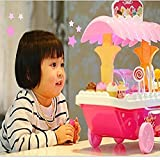#5: Magnifico™ Ice Cream Sweet Kitchen Cart with Lights and Music Role Play Set Toys (Big)