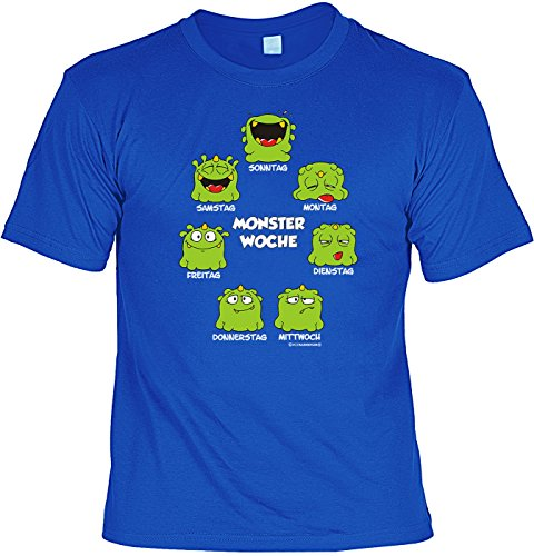 Motiv-Shirt/Spaß-Shirt Rubrik lustige Sprüche: Monsterwoche geniale Geschenkidee Royalblau