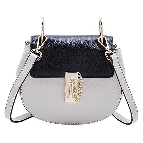 BOYATU Genunie Leather Shoulder Bag Top Handbag Messenger Package Cute Pig Tote (Black)