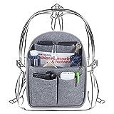 Luxja Taschenorganizer Filz, Bag in Bag Organizer, Taschenorganizer für Rucksack, Filz Organizer Tasche Groß Genug für A4-Papier, Grau