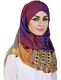 Monin Libas Fancy Multicolour Viscose with Printed Hijab and Scarf