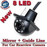 Auto Wayfeng® 8 LED HD CCD coche cámara de visión trasera Night Vision Gran angular coche cámara de visión trasera coche de reversión de copia de seguridad para la cámara de monitor de aparcamiento