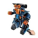 Igemy Kinder DIY Bausteine RC Intelligenten Roboter Elektronischen Roboter STEM Spielzeug (Blau A)