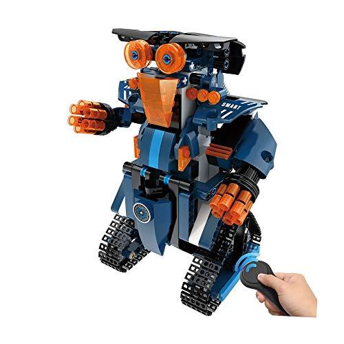 Roboter Spielzeug Interaktive Spielzeug Geburtstag Geschenk H.eternal Gehen Smart RC Roboter Fernbedienung Elektronisches DIY Building Blocks Spielzeug für Kinder, Jungen, Mädchen Entertainment (Blau)