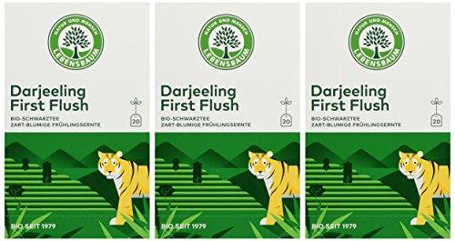Lebensbaum Bio Schwarztee Darjeeling First Flush, 3er Pack (3 x 30 g)