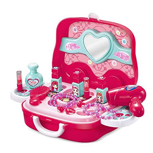 Mengsi Kinderspielzeug Kinderkosmetik Set umweltfreundliche ungiftige Make-up-Box gibt Kindern einen ()
