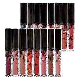 16 Couleurs Rouge à Lèvres Mat Richoose Nouveau Niveau Classique Maquillage Waterproof à Lèvres Liquide Beauté Brillant…