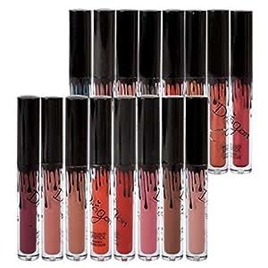 Rossetti Matte Richoose 16 Colors insieme impermeabile trucco liquido Lip Pencil opaco Rossetto Gloss Super Long Lasting (16 pcs)
