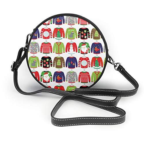 MZZhuBao Handtaschen für Frauen, hässliche Pullover PU-Leder-Umhängetaschen, Tote Satchel Messenger Bags