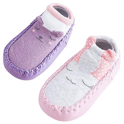 2e25dfb8a982d Happy Cherry Nouveau né Chaussures Coton Semelles Souples Bébé Fille Garçon Premier  Pas chaussons Motif Mignon