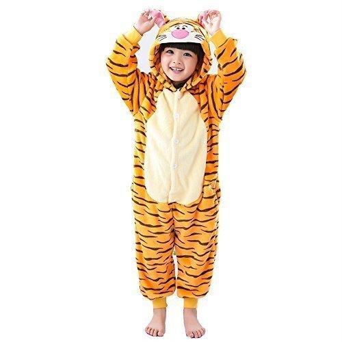 chlafanzug Kigurumi Rollenspiel Kostüm Schlafanzüge Outfit nonopnd Nachtwäsche Overall Halloween günstige Kostüm Kleidung - Jump Tiger, S 85 (Baby-tiger Kostüme Halloween)