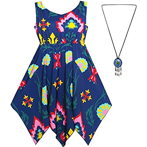 Sunny Fashion - Vestito floreale, bambina, multicolore