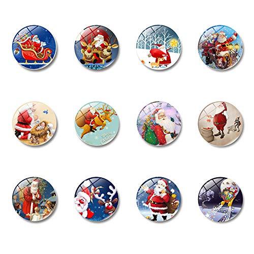 DoBestLJZ 12 Stücke Weihnachten Magnete Kühlschrankmagnete Magnete Kinder 3D Witzig für Kühlschrank Whiteboard Magnettafel (Style 1)