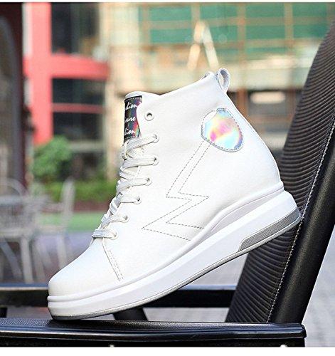 Tige Blanc Haute Casual Chaude JRenok Basket Chaussure Caché de DHiver Mode Talon Sport Chaussure Femme Compensé FHPqZ