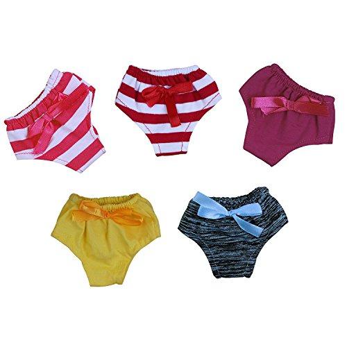 Zita Element 5 x täglich Casual Kleidung/Outfits Zuhause Puppen Unterwäsche für American Girl Puppe, und andere 45-46 cm Puppe Unterwäsche Weihnachts Geschenk 15-puppe Kleidung Für Die American Girl