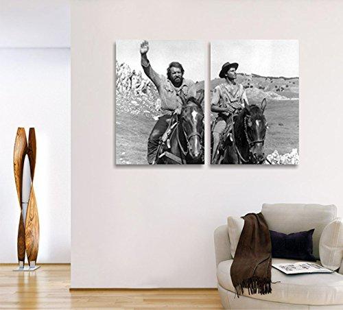 Bud spencere und Terence Hill 2–2moderne Bilder 50x 70cm auf Leinwand Hauptdécor Film Cinema weiß schwarz Schauspieler Wall Art Lieferungen Canvas Home Decor Schlafzimmer Studio Wohnzimmer Büro