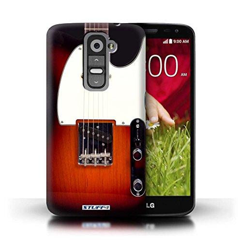 Kobalt® Imprimé Etui / Coque pour LG G2 Mini/D620 / Electro Acoustique conception / Série Guitare Sunburst Electrique