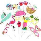 HAPPY SUMMER Party Photobooth Accessoire pour Déguisement Masquerade de Carnaval d'été (12pcs)
