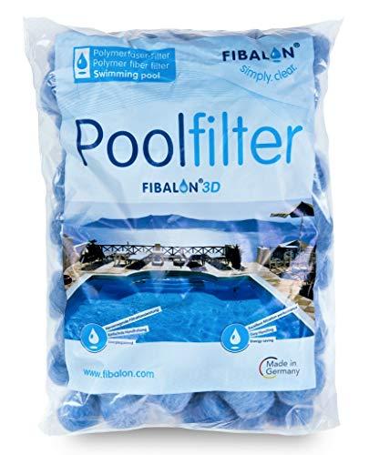 FIBALON 3D - Hochinnovatives + hochwirksamstes Filtermaterial für Pool Sandfilteranlagen im 350g Beutel