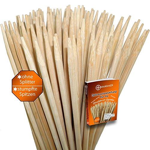 100-Stockbrot-Spiee-Lagerfeuer-Spiee-fr-Stockbrot-Marshmallows-Bratwurst-uvm-fast-1-Meter-ideal-fr-Feuerschalen-extrem-stabil-ohne-Reinigen-inklusive-Rezept-Heft-und-100-Zufriedenheitsgarantie-und-100