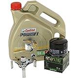 Cambio de aceite Set 4litros Castrol SAE 10W de 40Power 14t Incluye Filtro de aceite HiFlo hf160y aceite