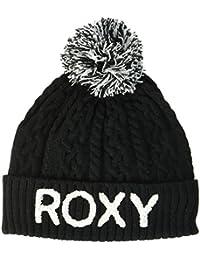 Roxy Fjord Beanie Gorro con Dobladillo, Mujer, Negro (Anthracite Solid), Talla