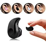 Eximtrade Ultra Mini Wireless Bluetooth Stereo Headset Ohrhörer Kopfhörer mit Freisprech Mikrofon für Smartphones und Tablets (Schwarz)