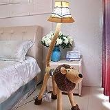 Lampadaire Super Cute Lion Forme Lampadaire for Enfants Simple Salon Chambre Chambre Bébé Étude Décoration Cartoon Lampadaire lampadaire sur pied salon