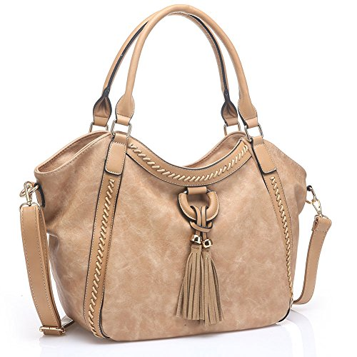 - 51qY978BQSL - UTAKE Women Handbags Leather Handbags Shoulder Bag PU Leather Bag Large Tote Bag UKUT59