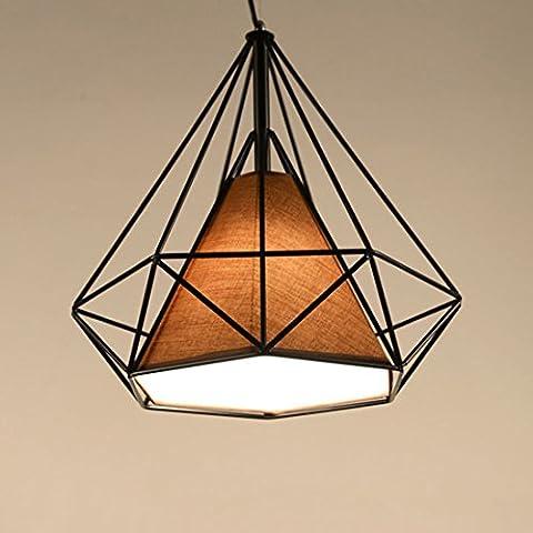 DANSPEED 25cm/38cm Modern Art Diamond Shape Pendant Light Bird Cage