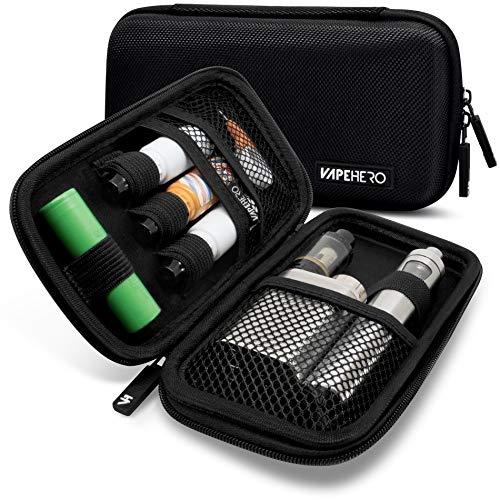 VapeHero® E-Zigarette Tasche | Dampfer-Etui für Liquid und Zubehör | Extra Strap für 18650 Batterie und Liquid | Stoßfest