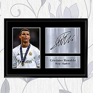Inspired Walls Foto und aufgedrucktes Autogramm, Cristiano Ronaldo, Geschenk, signiert, Real Madrid, A2, A3, A4, A5, A2 (594 x 420 mm)