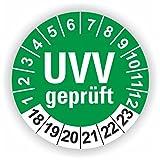 5 - 1.000 Stück Prüfplaketten Prüfetiketten Wartungsetiketten UVV Prüfung Ø 40mm (Grün 30 Stück)