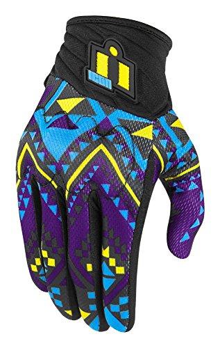 Preisvergleich Produktbild Icon Anthem georacer Touchscreen-Handschuhe,  Schwarz / mehrfarbig schwarz Schwarz Large