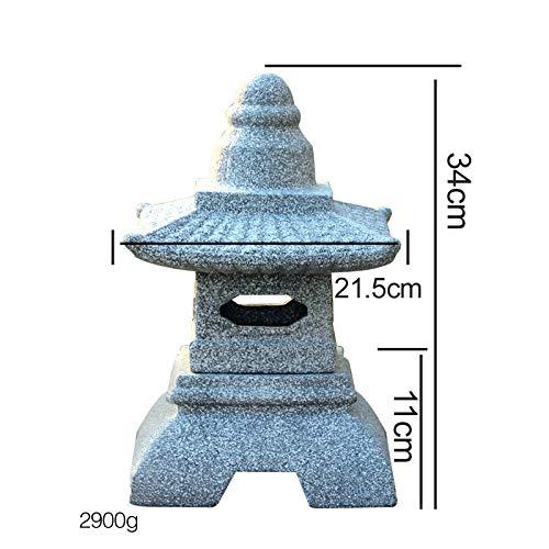 zenggp pagoda giardino giapponese lanterna scultura in pietra massiccia intagliata a mano decorazione del giardino statua,f+34cm